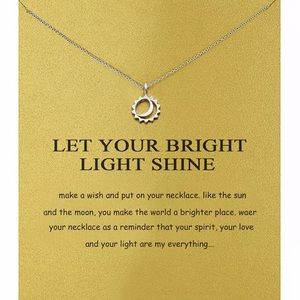 New • silver let your bright shine necklace